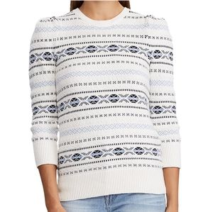 NWT Ralph Lauren Knitted Cotton White Sweater